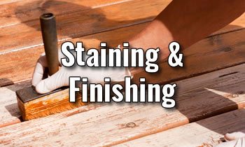 Building Your Deck - Staining and Finishing