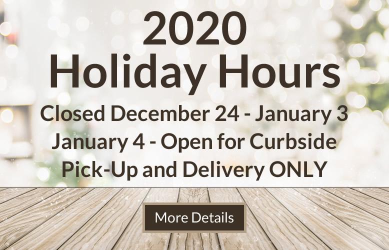 Turkstra Lumber 2020 Holiday Hours